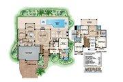 Mediterranean Style House Plan - 4 Beds 4.5 Baths 5848 Sq/Ft Plan #27-489 Floor Plan - Main Floor Plan
