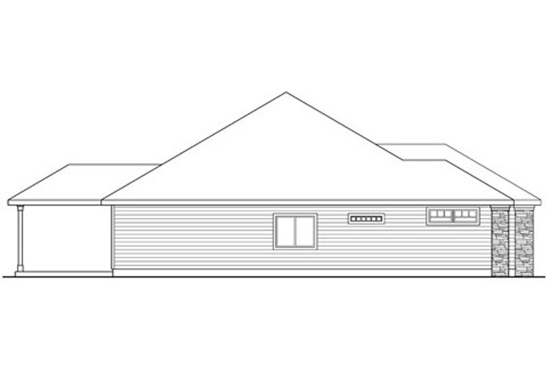 Ranch Exterior - Other Elevation Plan #124-833 - Houseplans.com