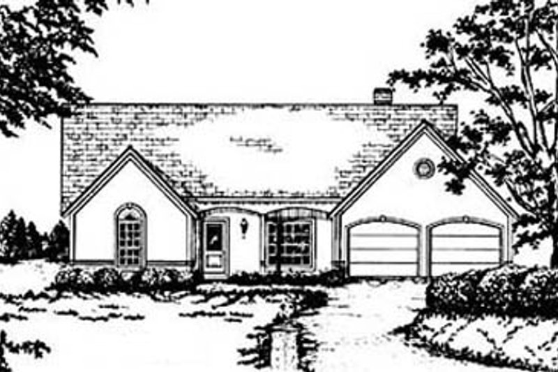 European Exterior - Front Elevation Plan #36-157