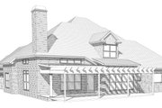 European Style House Plan - 4 Beds 3 Baths 3346 Sq/Ft Plan #63-347 Exterior - Rear Elevation