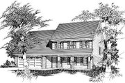 Traditional Style House Plan - 3 Beds 2.5 Baths 1709 Sq/Ft Plan #329-208 Exterior - Front Elevation