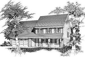 Traditional Exterior - Front Elevation Plan #329-208