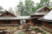 Craftsman Style House Plan - 4 Beds 4.5 Baths 5892 Sq/Ft Plan #454-14 Exterior - Front Elevation