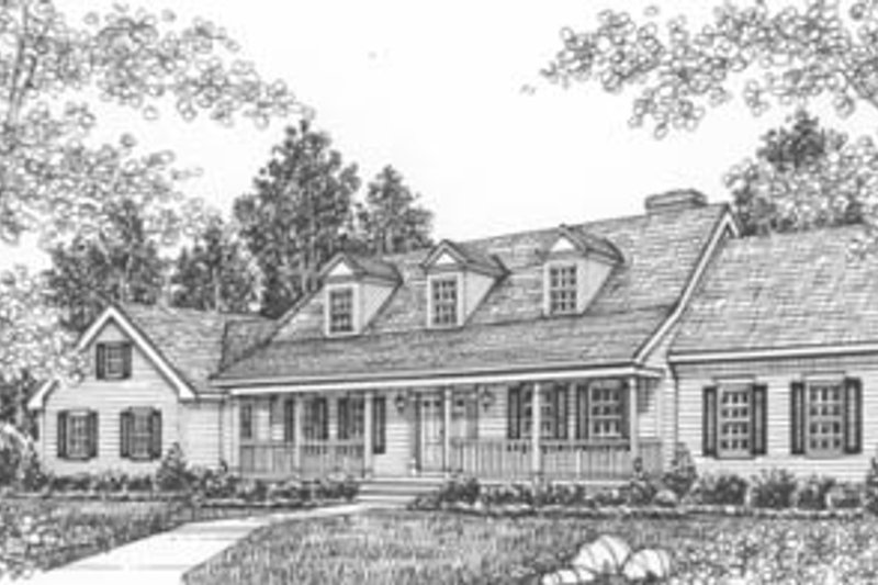 Country Style House Plan - 3 Beds 2.5 Baths 2359 Sq/Ft Plan #12-241 Exterior - Front Elevation