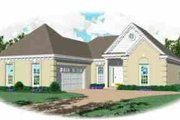 European Style House Plan - 3 Beds 2 Baths 1303 Sq/Ft Plan #81-175 Exterior - Front Elevation
