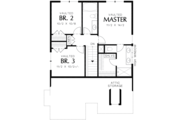 Cottage Style House Plan - 3 Beds 2.5 Baths 1454 Sq/Ft Plan #48-488 Floor Plan - Upper Floor