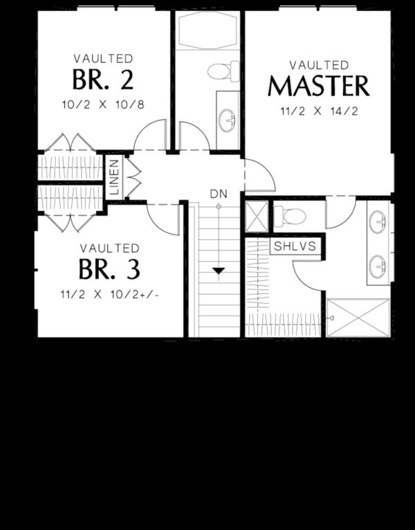 Cottage Floor Plan - Upper Floor Plan Plan #48-488