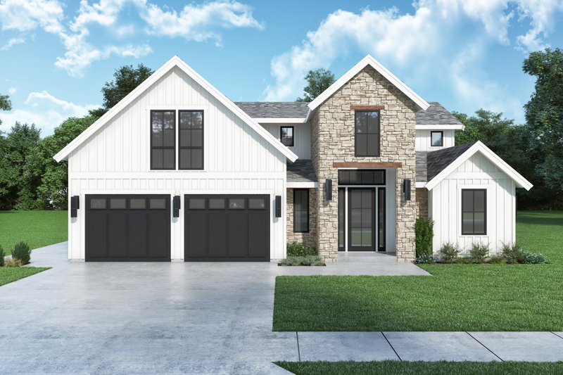 Home Plan - Farmhouse Exterior - Front Elevation Plan #1070-134