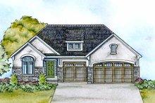 Dream House Plan - European Exterior - Front Elevation Plan #20-2118
