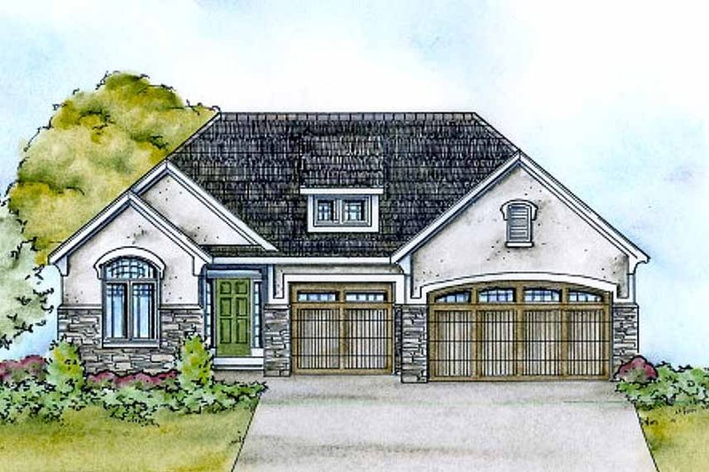 Home Plan - European Exterior - Front Elevation Plan #20-2118