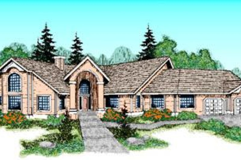 Traditional Exterior - Front Elevation Plan #60-222 - Houseplans.com