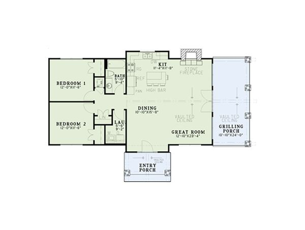 Traditional Floor Plan - Main Floor Plan Plan #17-2615