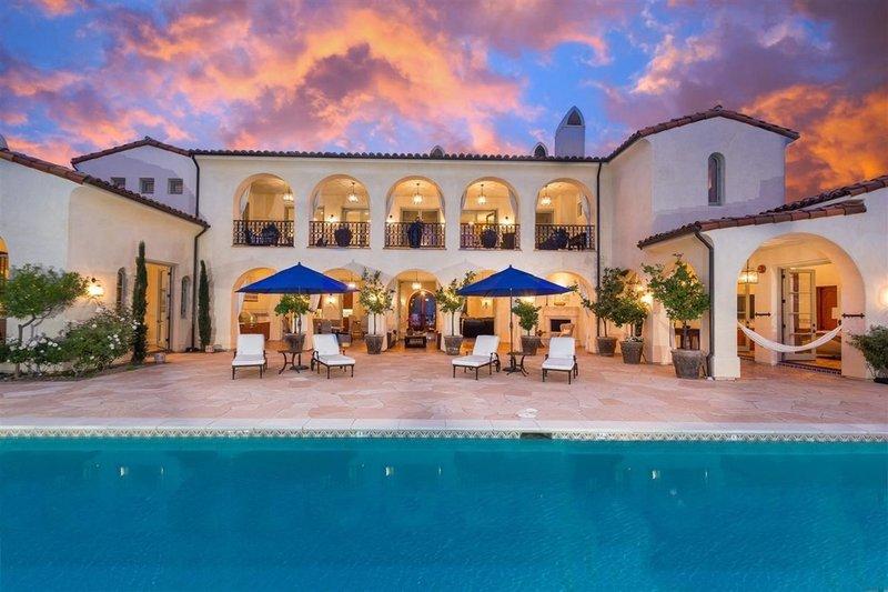 Mediterranean Style House Plan - 4 Beds 5 Baths 6860 Sq/Ft Plan #484-8 Exterior - Rear Elevation