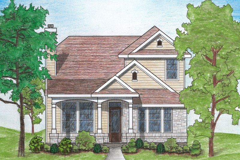 Dream House Plan - Traditional Exterior - Front Elevation Plan #80-105