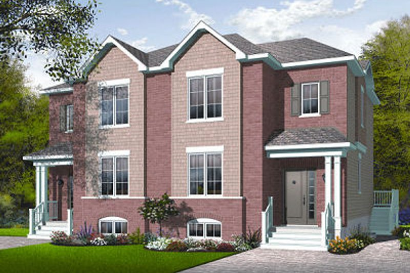 Architectural House Design - Traditional Exterior - Front Elevation Plan #23-776