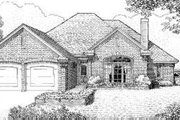 European Style House Plan - 4 Beds 2 Baths 1696 Sq/Ft Plan #310-136 Exterior - Front Elevation