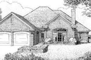 European Exterior - Front Elevation Plan #310-136