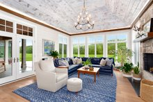 Architectural House Design - Country Interior - Family Room Plan #928-284