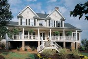 Farmhouse Style House Plan - 4 Beds 3.5 Baths 3163 Sq/Ft Plan #929-16 Exterior - Rear Elevation