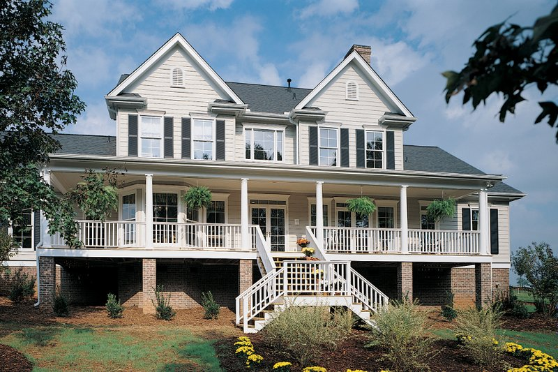 Farmhouse Exterior - Rear Elevation Plan #929-16 - Houseplans.com