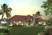 Mediterranean Style House Plan - 3 Beds 2.5 Baths 2072 Sq/Ft Plan #57-678