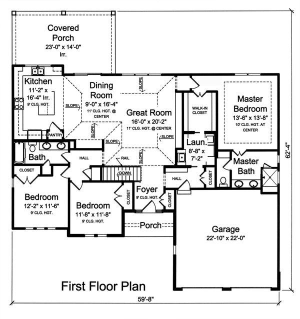 Ranch Floor Plan - Main Floor Plan Plan #46-874