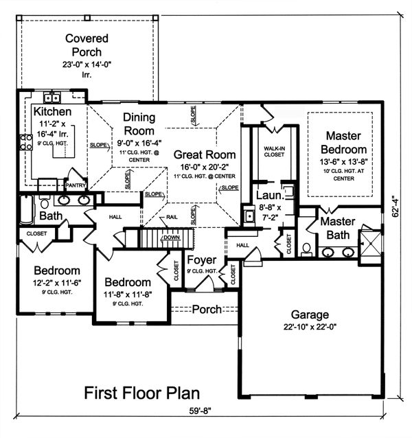 Ranch Floor Plan - Main Floor Plan Plan #46-874