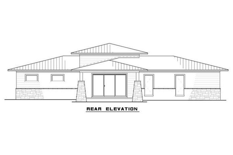 Modern Exterior - Rear Elevation Plan #17-2591 - Houseplans.com