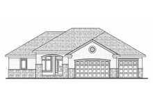 Traditional Exterior - Front Elevation Plan #20-2178