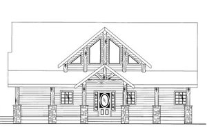 Cabin Exterior - Front Elevation Plan #117-765