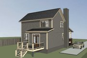 Bungalow Style House Plan - 4 Beds 2 Baths 1495 Sq/Ft Plan #79-204 Exterior - Other Elevation