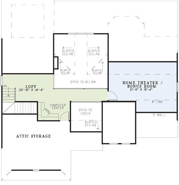 Mediterranean Floor Plan - Upper Floor Plan Plan #17-2925