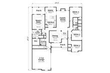 Craftsman Floor Plan - Main Floor Plan Plan #419-109