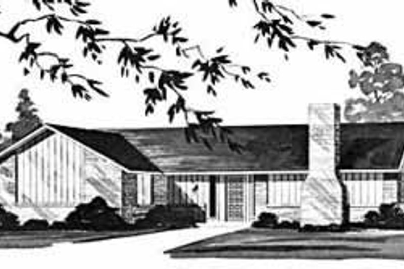 Ranch Exterior - Front Elevation Plan #36-374