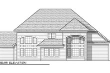 Dream House Plan - Craftsman Exterior - Rear Elevation Plan #70-956