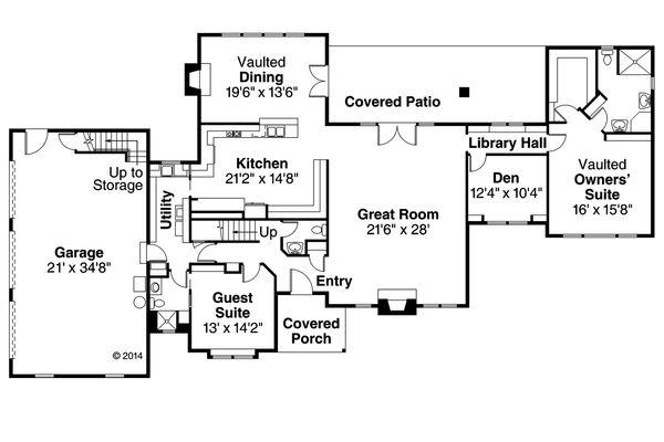 Traditional Floor Plan - Main Floor Plan Plan #124-320