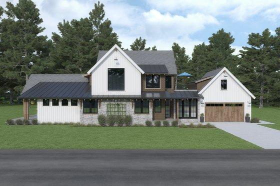 House Plan Design - Farmhouse Exterior - Front Elevation Plan #1070-106