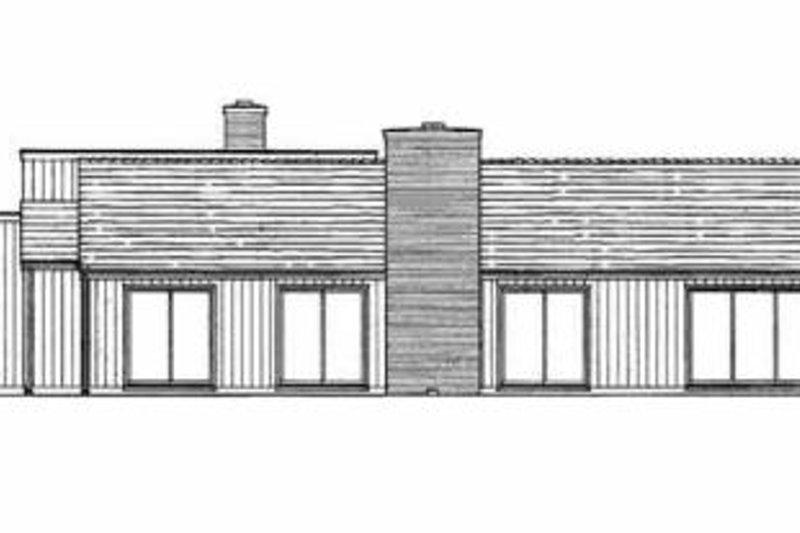 Contemporary Exterior - Rear Elevation Plan #72-346 - Houseplans.com