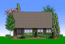 Craftsman Exterior - Rear Elevation Plan #48-551