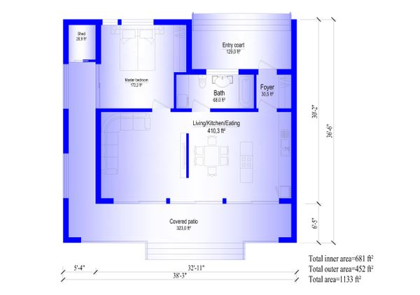 Modern Floor Plan - Main Floor Plan Plan #549-7