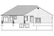 Ranch Style House Plan - 2 Beds 2.5 Baths 2446 Sq/Ft Plan #1060-43 Exterior - Rear Elevation