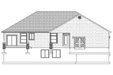 Ranch Exterior - Rear Elevation Plan #1060-43