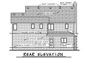 European Style House Plan - 3 Beds 2.5 Baths 1566 Sq/Ft Plan #20-2195 Exterior - Rear Elevation