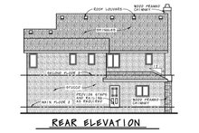 European Exterior - Rear Elevation Plan #20-2195