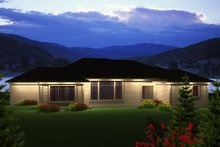 Home Plan - Ranch Exterior - Rear Elevation Plan #70-1119