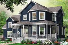 Home Plan - Traditional Exterior - Front Elevation Plan #23-411