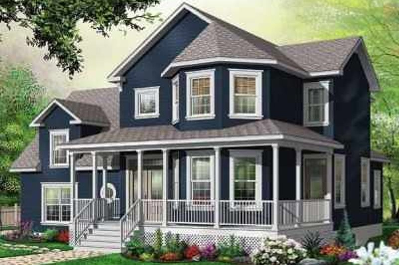 Dream House Plan - Traditional Exterior - Front Elevation Plan #23-411