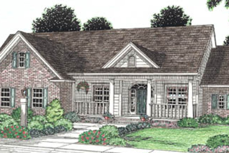 Architectural House Design - Traditional Exterior - Front Elevation Plan #20-191