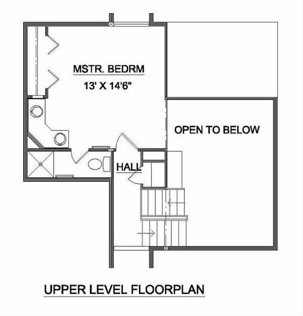 Contemporary Floor Plan - Upper Floor Plan #116-121