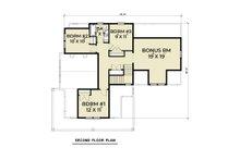 Contemporary Floor Plan - Upper Floor Plan Plan #1070-83